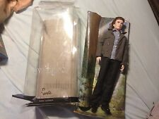 2009 TWILIGHT Saga Ken as Edward Barbie Doll Pink Label Collector  with  stand
