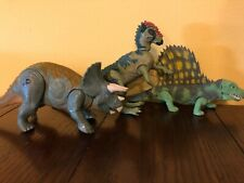 Vintage Jurassic Park Lot of 3 Dinosaurs, Kenner triceratops dimetrodon pachy