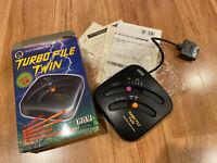UNTESTED, ASCII TURBO FILE TWIN Boxed Nintendo Super Famicom SNES JAPAN Ver