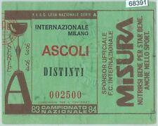 68391 - BIGLIETTO PARTITA CALCIO  Scudetto 1983-84 : INTER / Ascoli