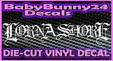 LORNA SHORE Band Logo Rock Laptop Truck Car Decal Vinyl Sticker