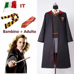 Harry Potter Grifondoro Mantello Sciarpa Cappello Guanti Cravatte CosPlay Veste
