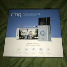 NEW RING VIDEO DOORBELL 2 1080HD NIGHT VISION 2 FACE PLATES  BRAND NEW, SEALED