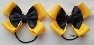 Jemlana's handmade Emma Wiggle bow hair ties(set of 2)Made in Australia
