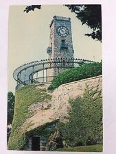 Cogswell Memorial Clock Tower Jenks Park Central Falls RI Chrome Postcard Unused