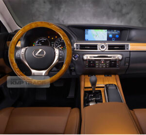 Wood Grain Design Car Auto Steering Wheel Cover 2 Color 1ea for All Sedan Car