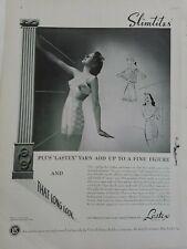 1940 Womens Slimtites Lastex Yarn girdle bra for that long look vintage ad