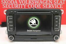 VOLKSWAGEN SEAT SKODA RNS 510 RNS510 RADIO CODE SERVICE VIA SERIAL NUMBER RNS315