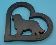 More details for bernese dog in heart shape home ornament - various sizes