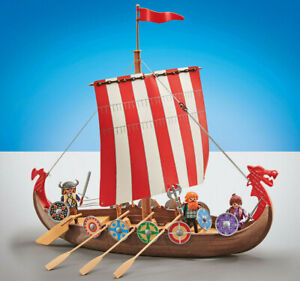 Playmobil Set 9891 Viking Ship Nordic with Norse Figures New Sealed