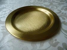 Kerzenteller Taufkerze Hochzeitskerze schlicht gold 9cm