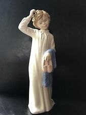 NAO Girl in Sleeping Gown holding robe/slippers - Excell Cond - Free Shipping!