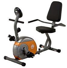 Recumbent Bike | Marcy ME-709 Gray Black Orange Cardio Exercise Cycling Cycle