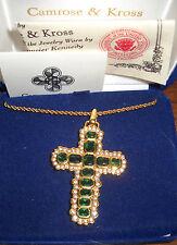 Camrose & Kross Jacqueline Jackie Kennedy Emerald Aura Cross  NIB