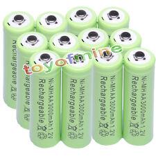 12x AA 1.2V 3000mAh Ni-MH 2A celular batería recargable / RC verde