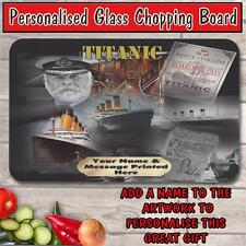 PERSONALISED TITANIC CLASSIC FILM GLASS CHOPPING BOARD HOUSE WARMING GIFT
