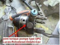 joint torique tête hydraulique pompe injection type DPC LUCAS ROTODIESEL DELPHI