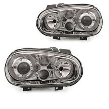 Scheinwerfer Set VW Golf IV 4 Typ 1J Bj. 97-03 Angel Eyes chrom R32 Optik PNW