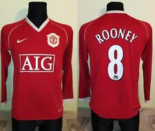 Manchester United 2006 ROONEY LONGSLEEVE Football Shirt Soccer Jersey nike S men