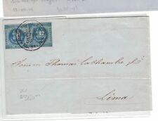 Peru SC 1 x 2 on 1858 cover (6bep)