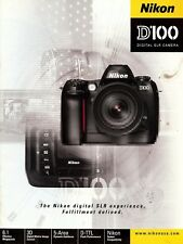 NIKON D100 DIGITAL SLR CAMERA LARGE DELUXE BROCHURE -NIKON D100 DSLR