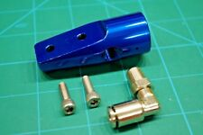 Angled bottomline adapter. Gloss Blue anodize aluminum. Rare!