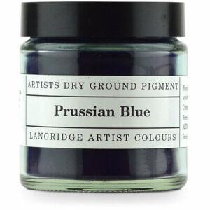 NEW Langridge Dry Ground Pigment 120ml - Prussian Blue