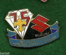 BOY SCOUT HAT PIN - 1985 HERITAGE CAMPFIRE CARAVAN - 1985 JAMBOREE