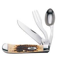 W.R. Case & Sons 6354H B SS Amber Hobo Folding Knife w/ Spoon 00052