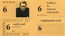 THE PRISONER IDENTITY CARD SET FROM ARRIVAL PATRICK MCGOOHAN PORTMERION ITC