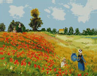 "Monet Poppy Field Counted Cross Stitch Kit 15"" x 11.75"""