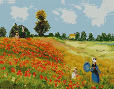 "Monet Poppy Field Counted Cross Stitch Kit 15"" x 11.75"""
