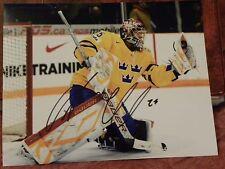 Vancouver Canucks Jacob Markstrom Signed Team Sweden 8x10 Photo Auto