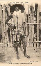 CARTE POSTALE AFRIQUE COTE D'IVOIRE CHASSEUR SENEFO