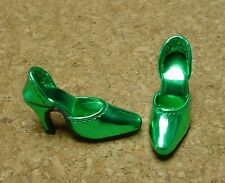 "Doll Shoes, Monique  MET GREEN ""Easy to Wear"" Fit Tonner American Model"