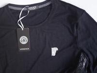 Schwarzes Herren T-Shirt mit langen Ärmeln Versace Jeans  Gr. S-XXL