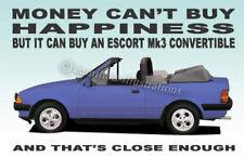 Ford Escort Mk3 Convertible Ilustración Novedad FRIDGE MAGNET ** Azul **