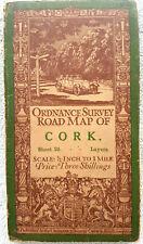 Ordnance Survey map of Cork Ireland ½ inch to mile Linen backed C1951 Fair B13