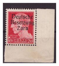ZARA  1943  -  CENTESIMI 20  -  SECONDO  TIPO   POS. 100  NUOVO **