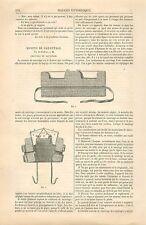 Gilet & Ceinture de Sauvetage Sécurité en Mer France GRAVURE ANTIQUE PRINT 1880
