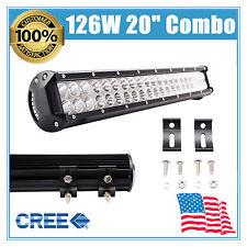 """20""""126W LED COMBO Work Light Bar Offroad Fog Driving Lamp Daytime Running Lights"""