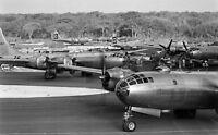 WW2  Photo WWII USAAF B-29 Superfortress Bombers on Guam 45  World War Two /5256