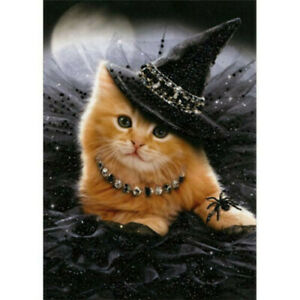 Glamorous Witch Kitten Deluxe Matte Cat Halloween Card - Greeting Card by Avanti