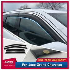 AUS Stainless Steel Weather Shields Weathershields for Grand Cherokee 10-20 #T