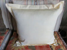 NEW RALPH LAUREN Luxury Oxford 18 x 18 Yellow Cotton Sofa Chair Bed Throw Pillow