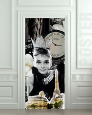 Door STICKER Audrey vintage retro decole