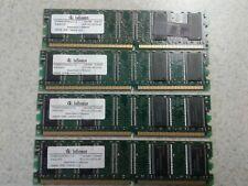 1GB SET - INFINEON 256MB X 4 PC2100U DDR DESKTOP MEMORY - 4 PIECES @ 256MB EACH