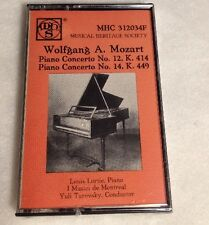 Mozart Cassette MHS Louis Lortie Piano Concerto No 12 New Vintage Tape Sealed
