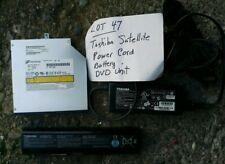 Toshiba Satellite Power Cord Dvd Unit Battery Lot