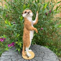 Meerkat Statue Rude Finger Funny Garden Decor Sculptures Outdoor Figurine 21cm